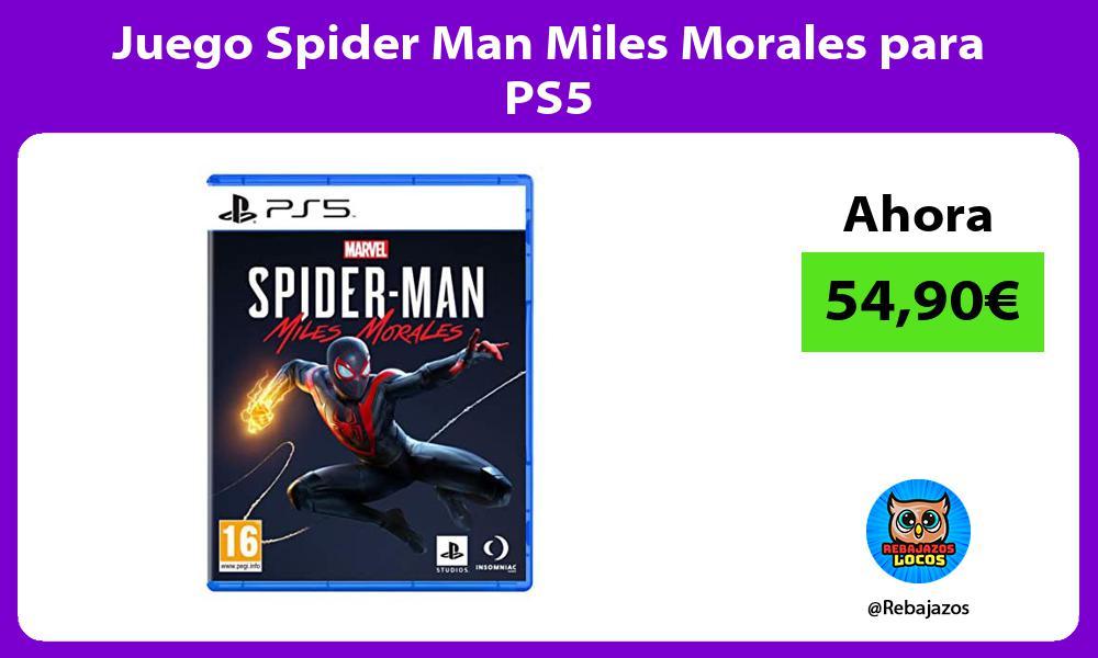 Juego Spider Man Miles Morales para PS5