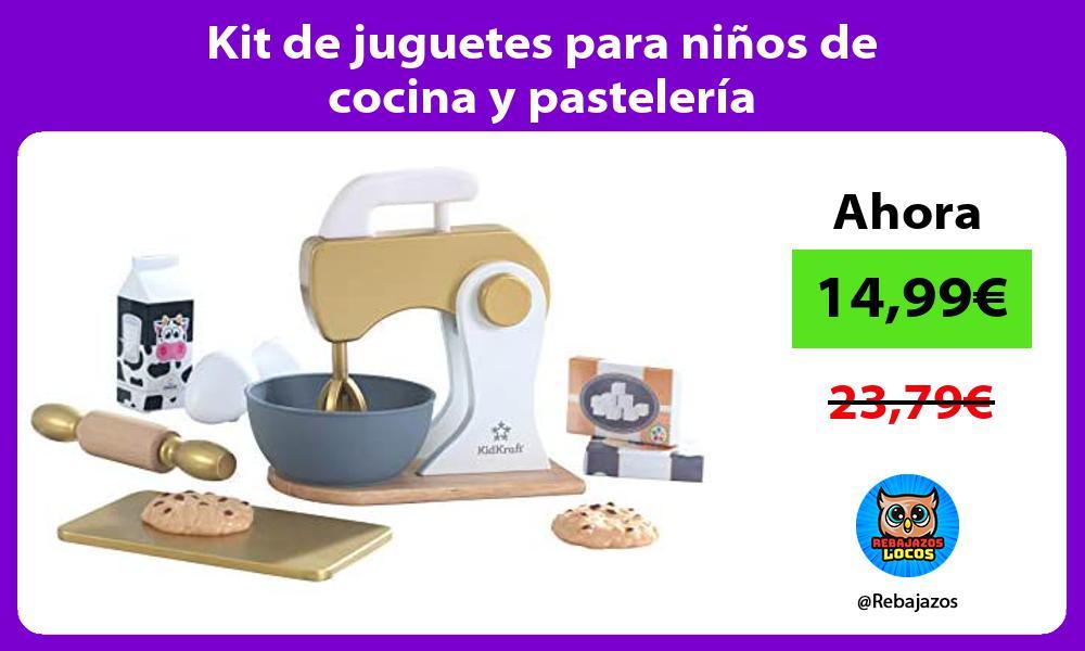Kit de juguetes para ninos de cocina y pasteleria