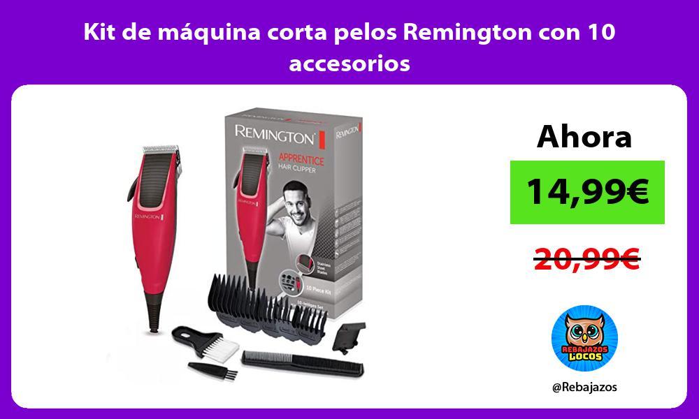 Kit de maquina corta pelos Remington con 10 accesorios