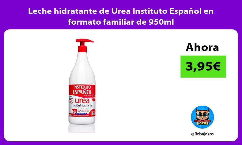 Leche hidratante de Urea Instituto Espanol en formato familiar de 950ml
