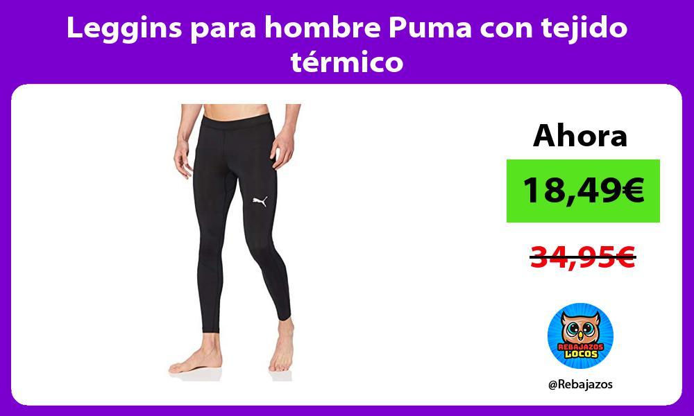Leggins para hombre Puma con tejido termico