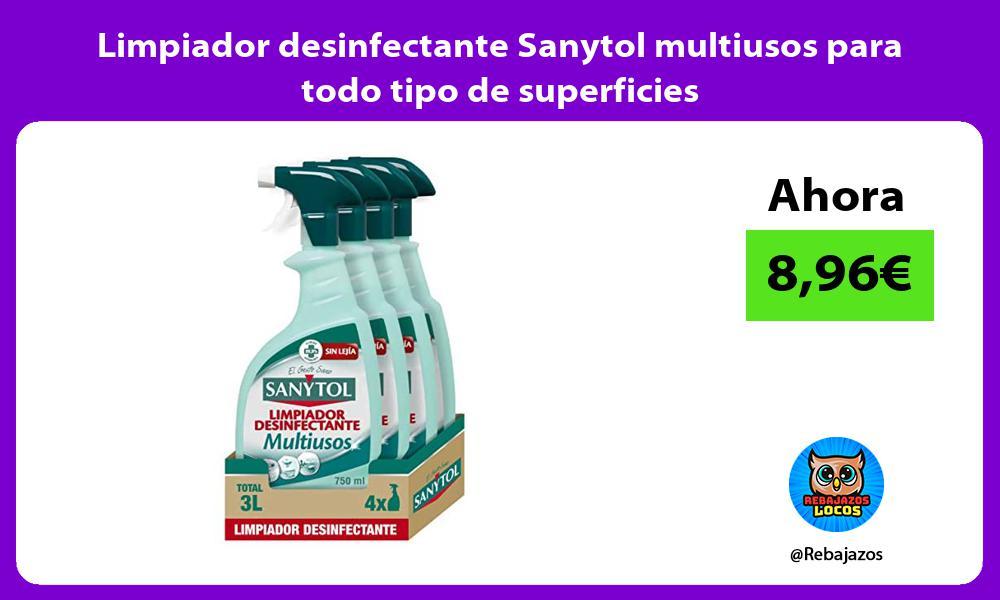 Limpiador desinfectante Sanytol multiusos para todo tipo de superficies