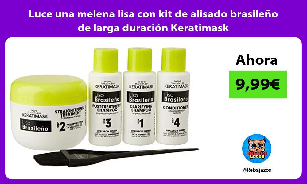 Luce una melena lisa con kit de alisado brasileno de larga duracion Keratimask