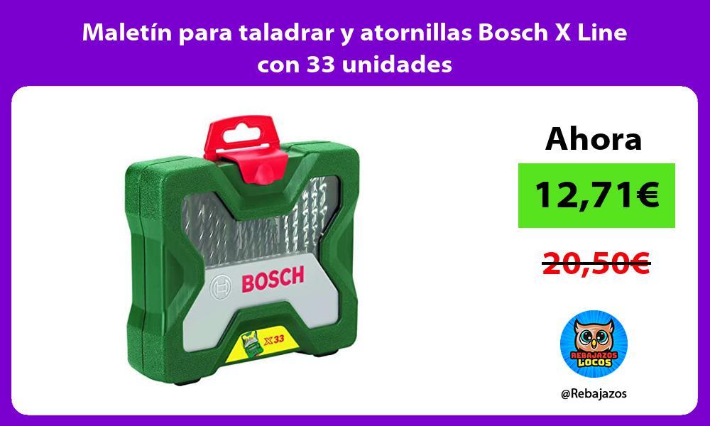 Maletin para taladrar y atornillas Bosch X Line con 33 unidades