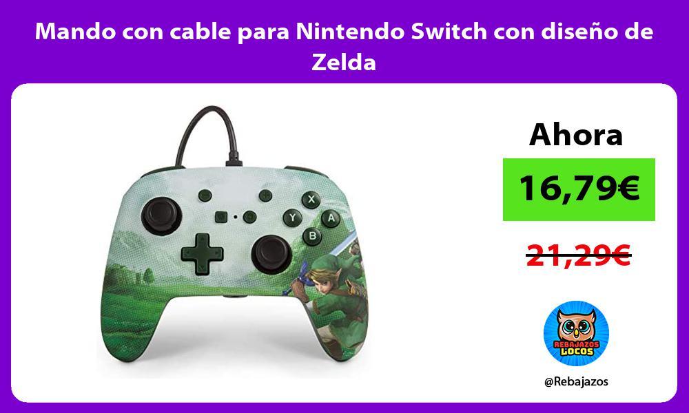 Mando con cable para Nintendo Switch con diseno de Zelda