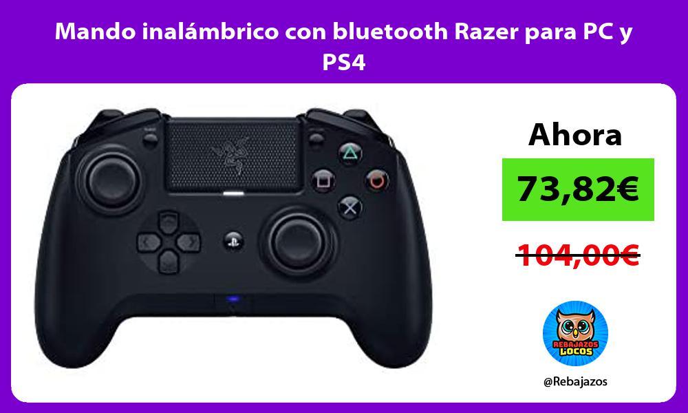 Mando inalambrico con bluetooth Razer para PC y PS4