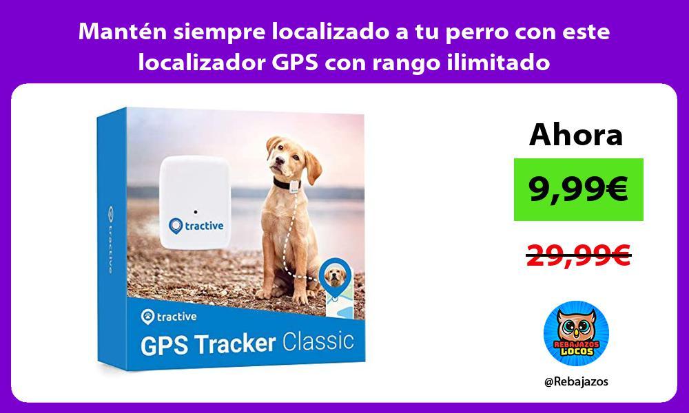 Manten siempre localizado a tu perro con este localizador GPS con rango ilimitado