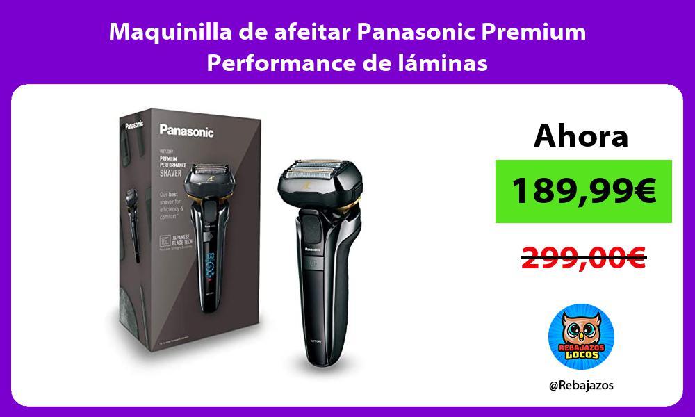 Maquinilla de afeitar Panasonic Premium Performance de laminas