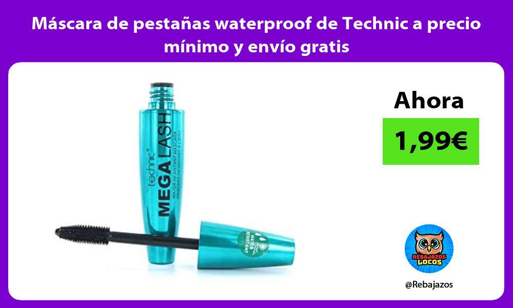 Mascara de pestanas waterproof de Technic a precio minimo y envio gratis