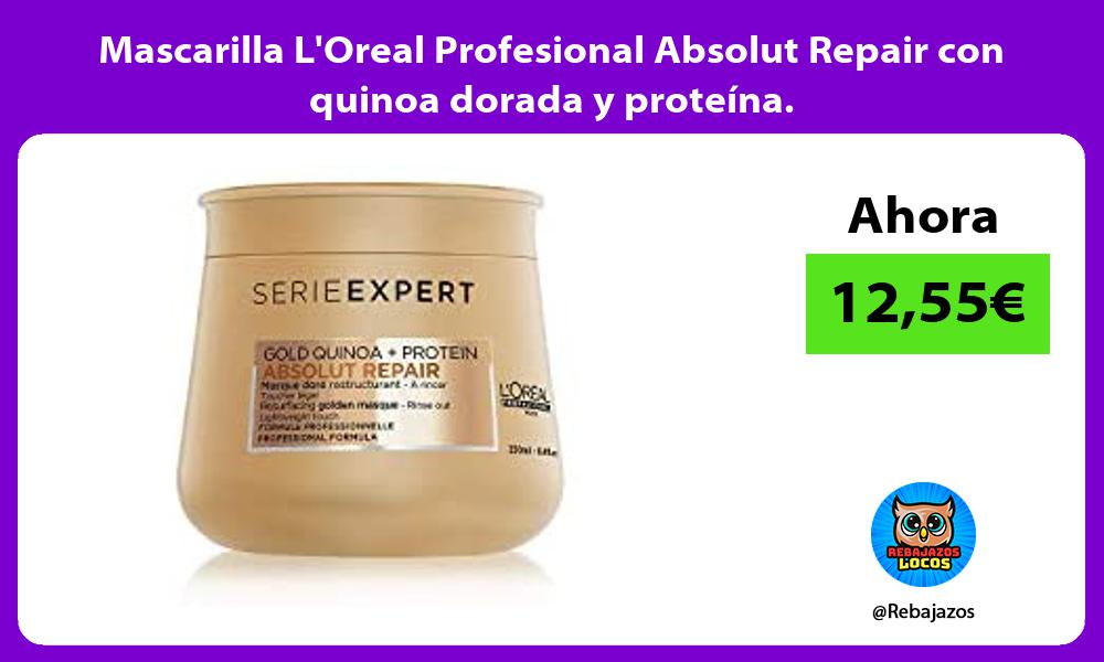 Mascarilla LOreal Profesional Absolut Repair con quinoa dorada y proteina