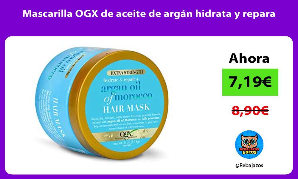 Mascarilla OGX de aceite de argan hidrata y repara