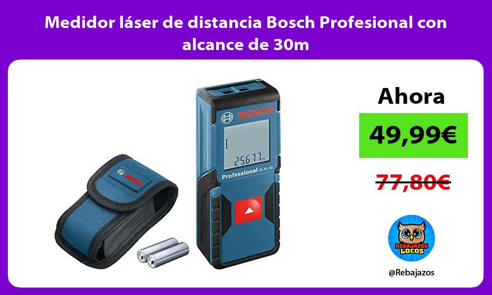 Medidor laser de distancia Bosch Profesional con alcance de 30m