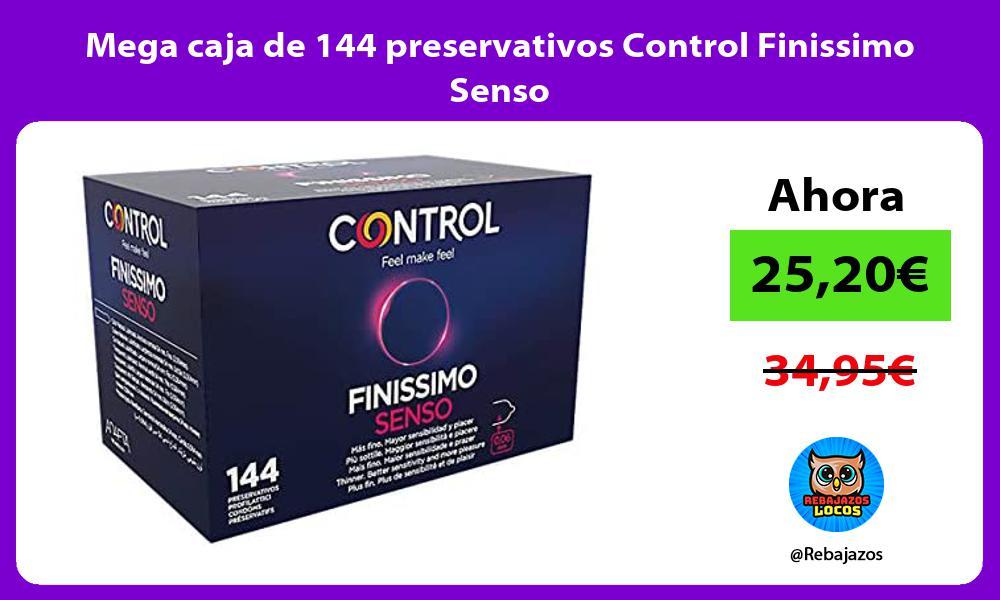 Mega caja de 144 preservativos Control Finissimo Senso