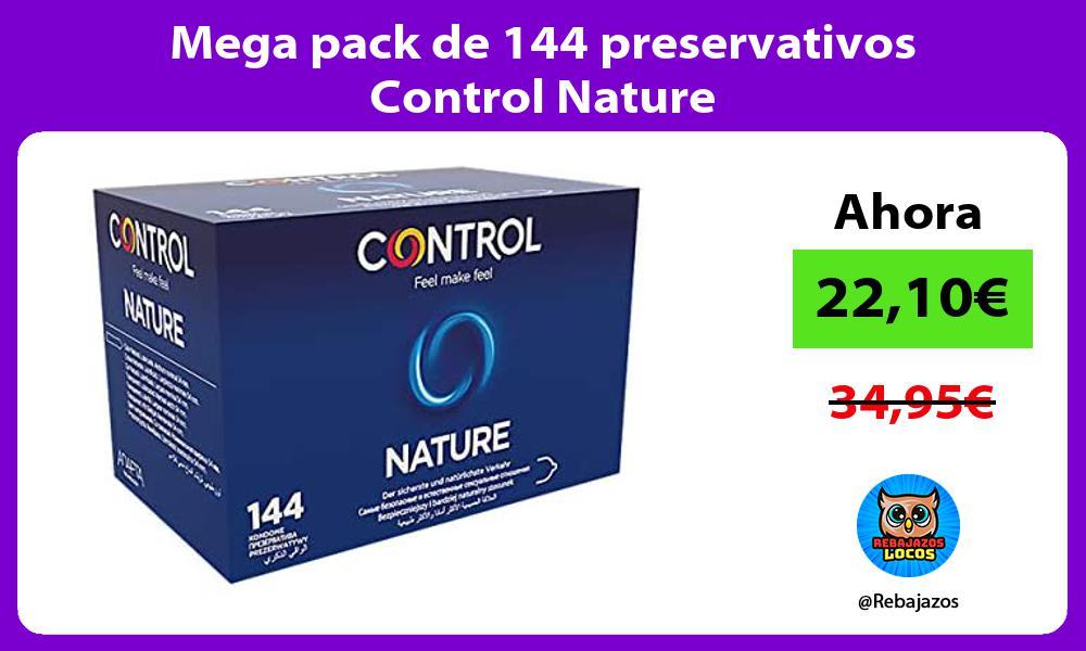Mega pack de 144 preservativos Control Nature