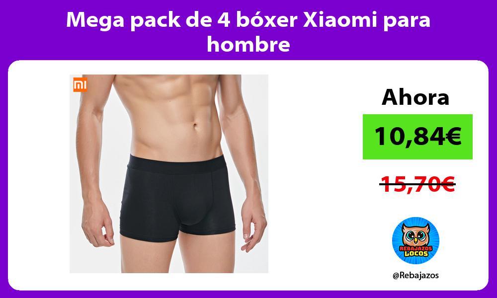 Mega pack de 4 boxer Xiaomi para hombre