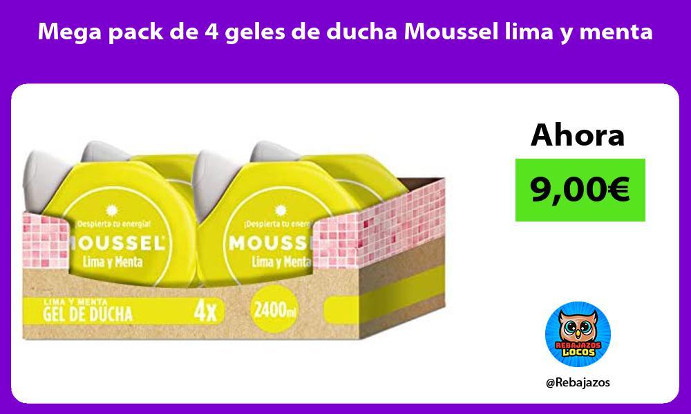 Mega pack de 4 geles de ducha Moussel lima y menta
