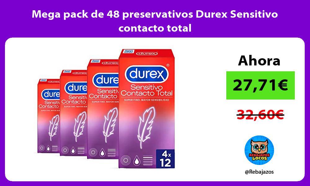 Mega pack de 48 preservativos Durex Sensitivo contacto total