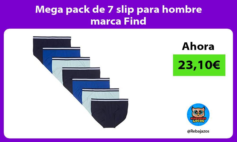 Mega pack de 7 slip para hombre marca Find