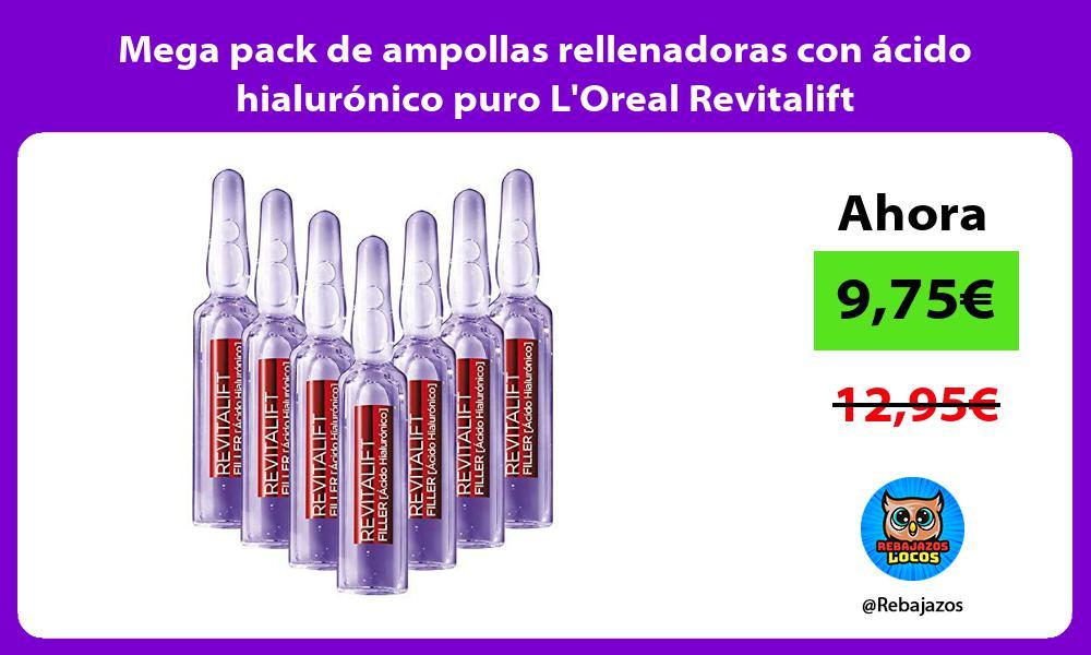 Mega pack de ampollas rellenadoras con acido hialuronico puro LOreal Revitalift