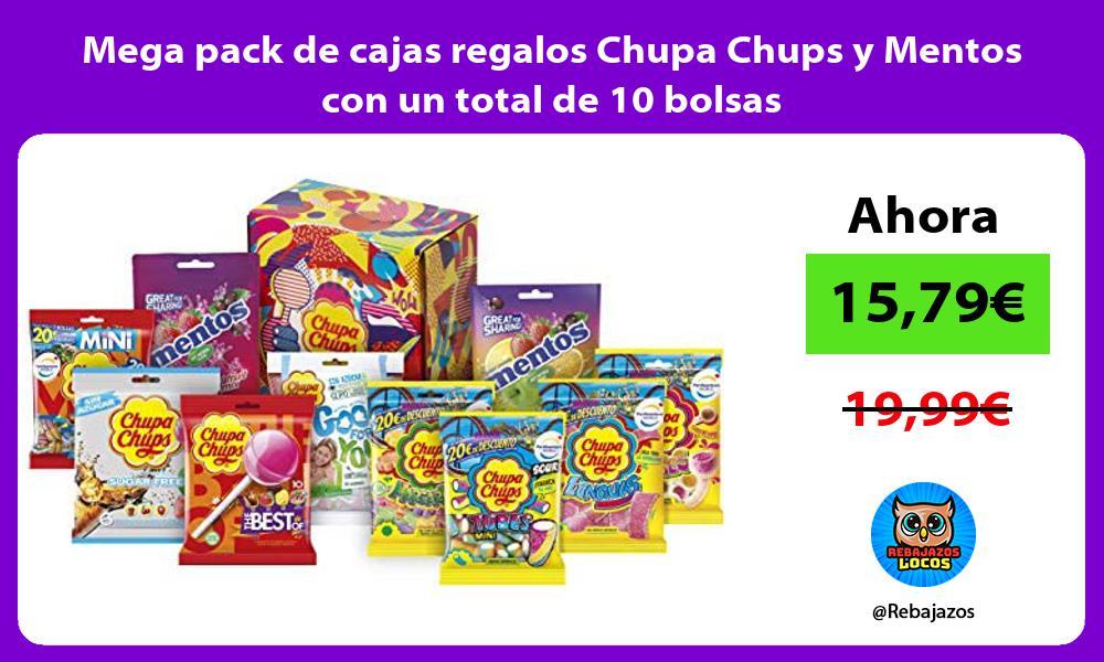Mega pack de cajas regalos Chupa Chups y Mentos con un total de 10 bolsas