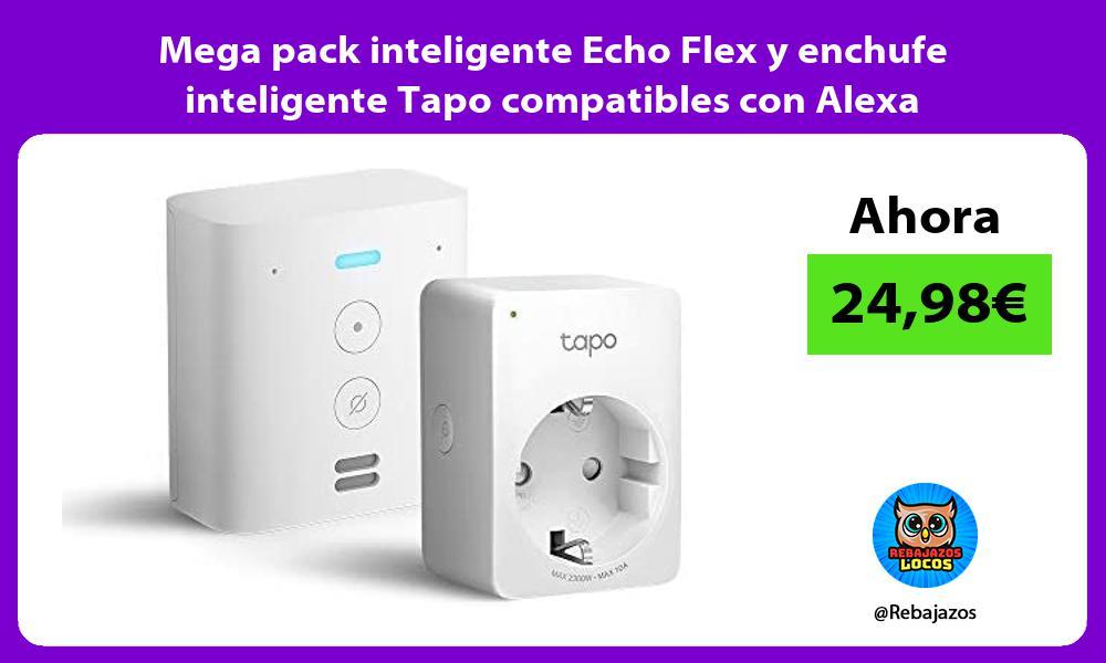 Mega pack inteligente Echo Flex y enchufe inteligente Tapo compatibles con Alexa