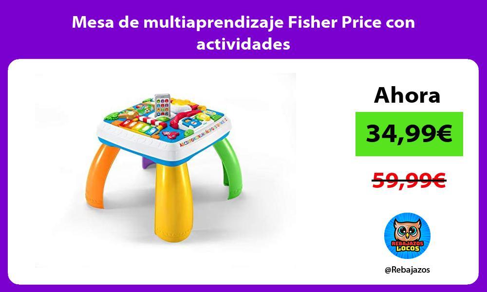 Mesa de multiaprendizaje Fisher Price con actividades