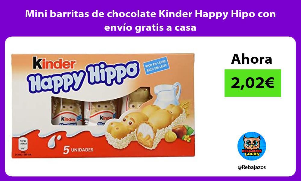 Mini barritas de chocolate Kinder Happy Hipo con envio gratis a casa
