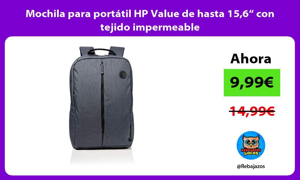 Mochila para portatil HP Value de hasta 156 con tejido impermeable