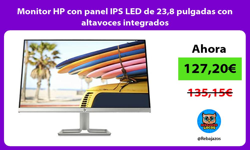 Monitor HP con panel IPS LED de 238 pulgadas con altavoces integrados