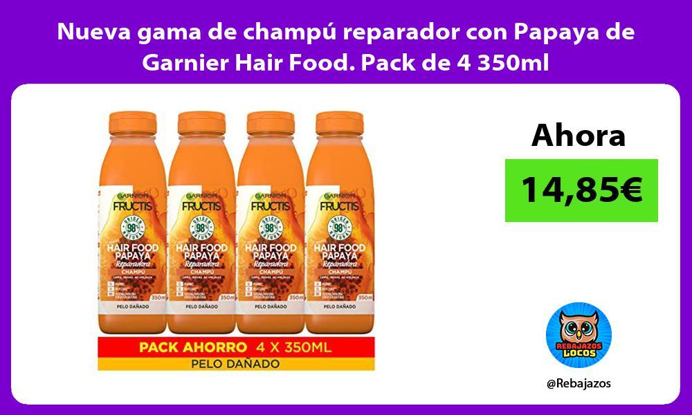 Nueva gama de champu reparador con Papaya de Garnier Hair Food Pack de 4 350ml