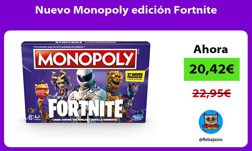 Nuevo Monopoly edicion Fortnite