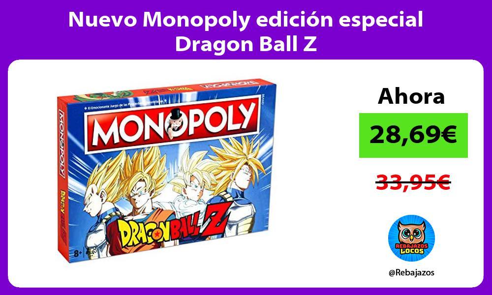 Nuevo Monopoly edicion especial Dragon Ball Z