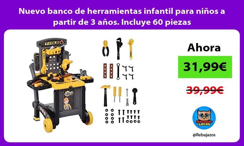 Nuevo banco de herramientas infantil para ninos a partir de 3 anos Incluye 60 piezas