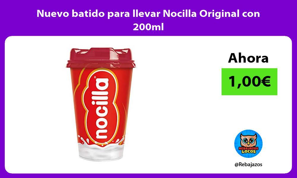 Nuevo batido para llevar Nocilla Original con 200ml