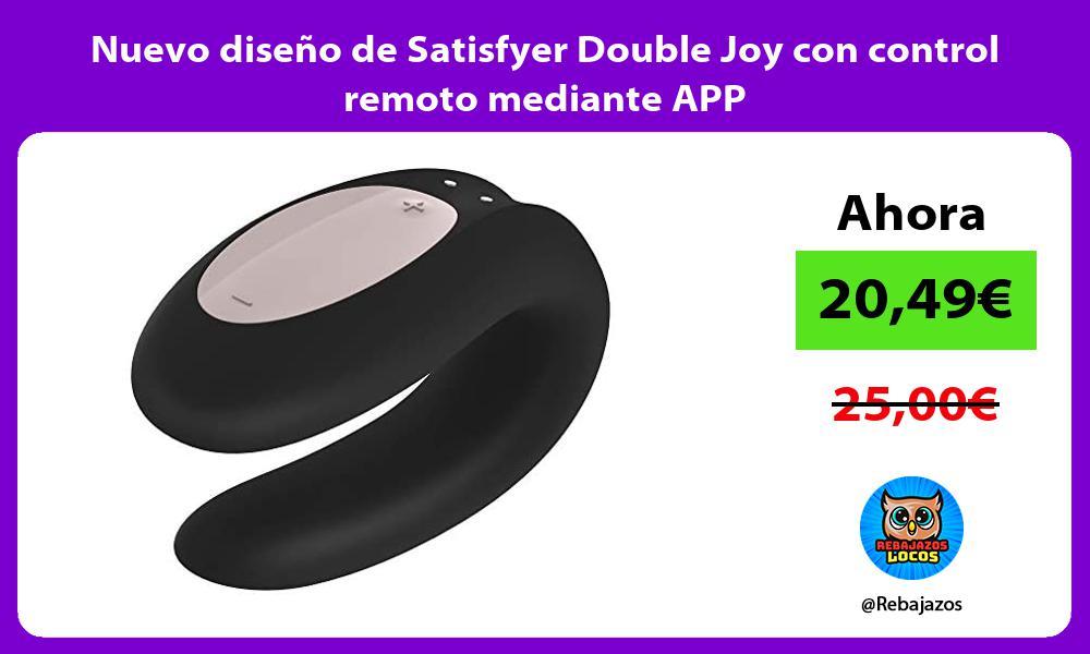 Nuevo diseno de Satisfyer Double Joy con control remoto mediante APP