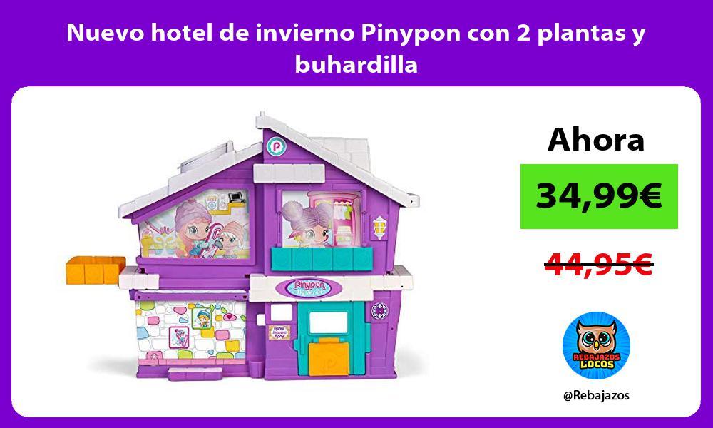 Nuevo hotel de invierno Pinypon con 2 plantas y buhardilla