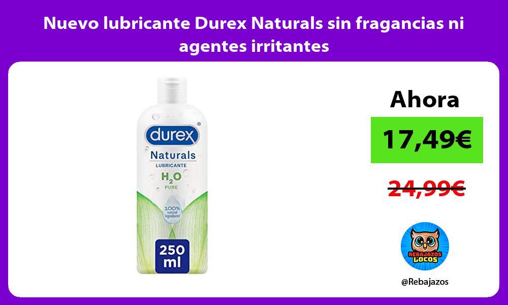 Nuevo lubricante Durex Naturals sin fragancias ni agentes irritantes