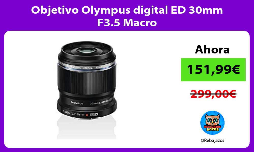 Objetivo Olympus digital ED 30mm F3 5 Macro