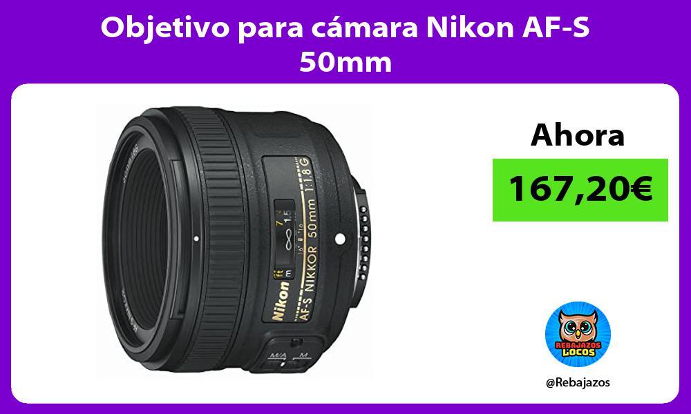 Objetivo para camara Nikon AF S 50mm