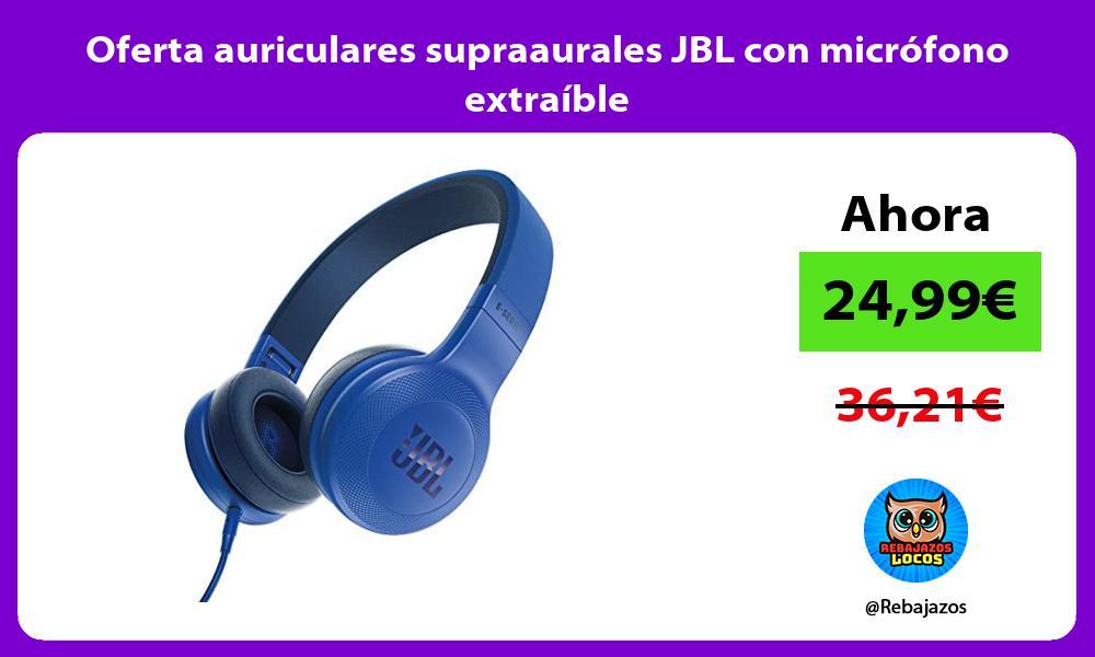 Oferta auriculares supraaurales JBL con microfono extraible