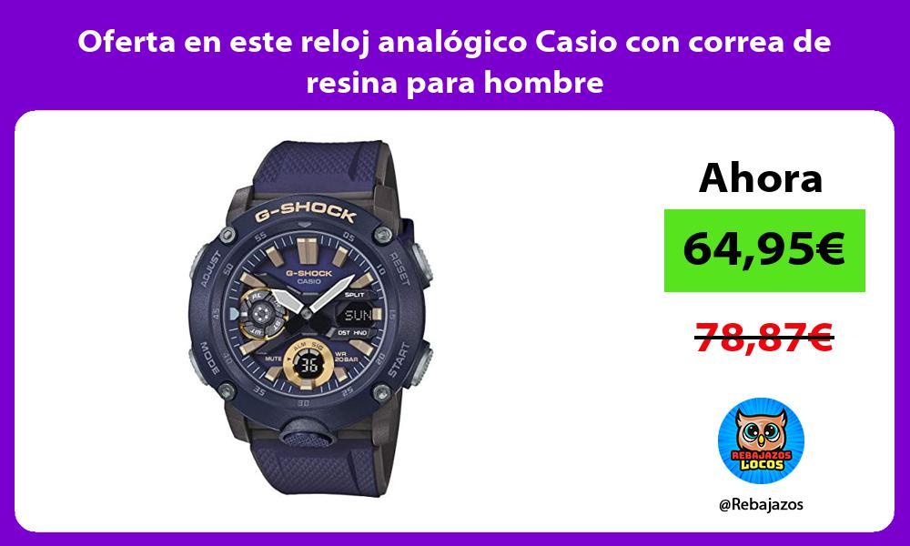 Oferta en este reloj analogico Casio con correa de resina para hombre