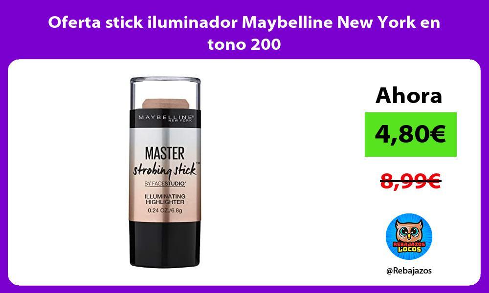 Oferta stick iluminador Maybelline New York en tono 200