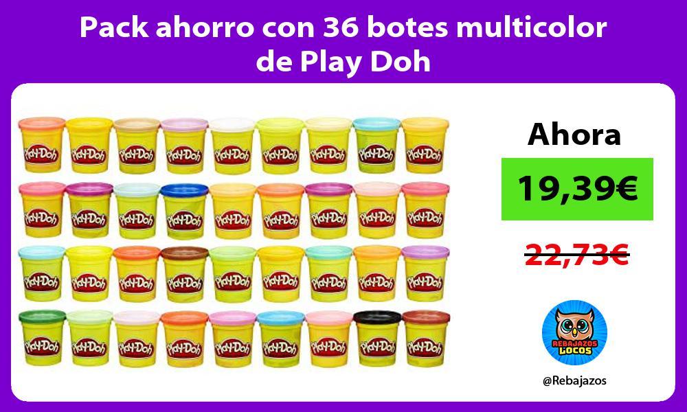 Pack ahorro con 36 botes multicolor de Play Doh