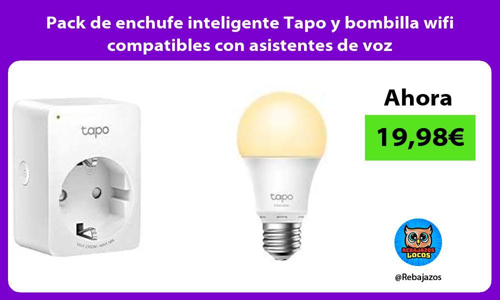 Pack de enchufe inteligente Tapo y bombilla wifi compatibles con asistentes de voz