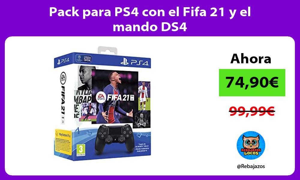 Pack para PS4 con el Fifa 21 y el mando DS4