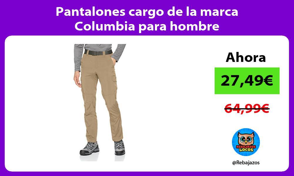 Pantalones cargo de la marca Columbia para hombre