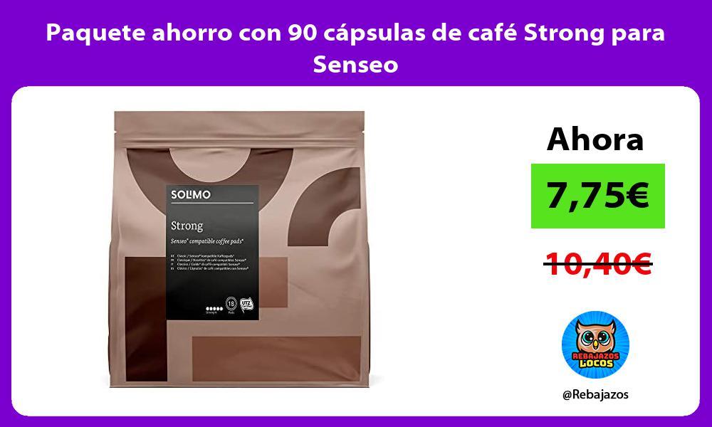 Paquete ahorro con 90 capsulas de cafe Strong para Senseo