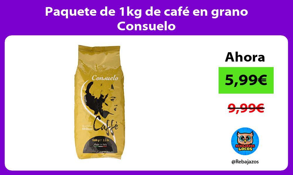 Paquete de 1kg de cafe en grano Consuelo