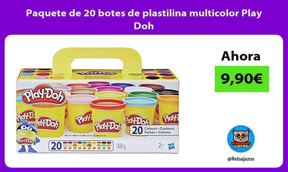 Paquete de 20 botes de plastilina multicolor Play Doh