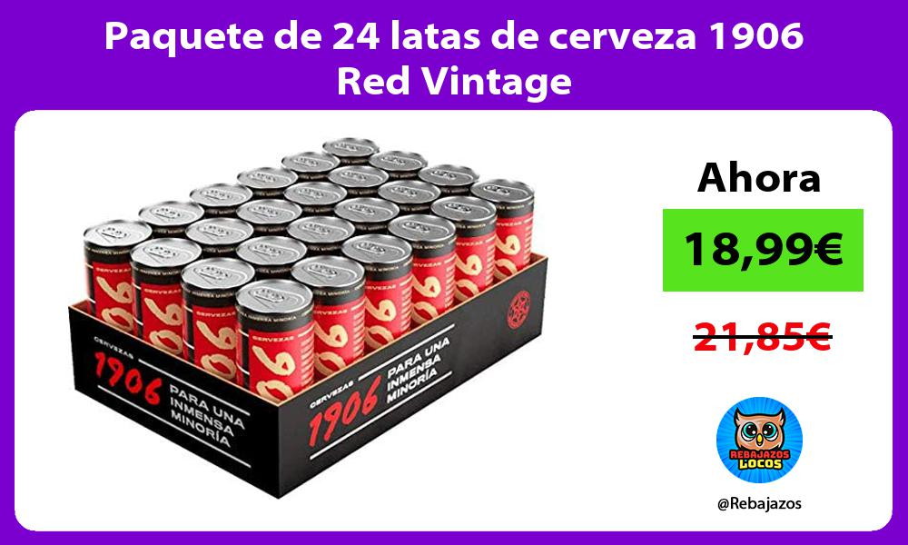 Paquete de 24 latas de cerveza 1906 Red Vintage